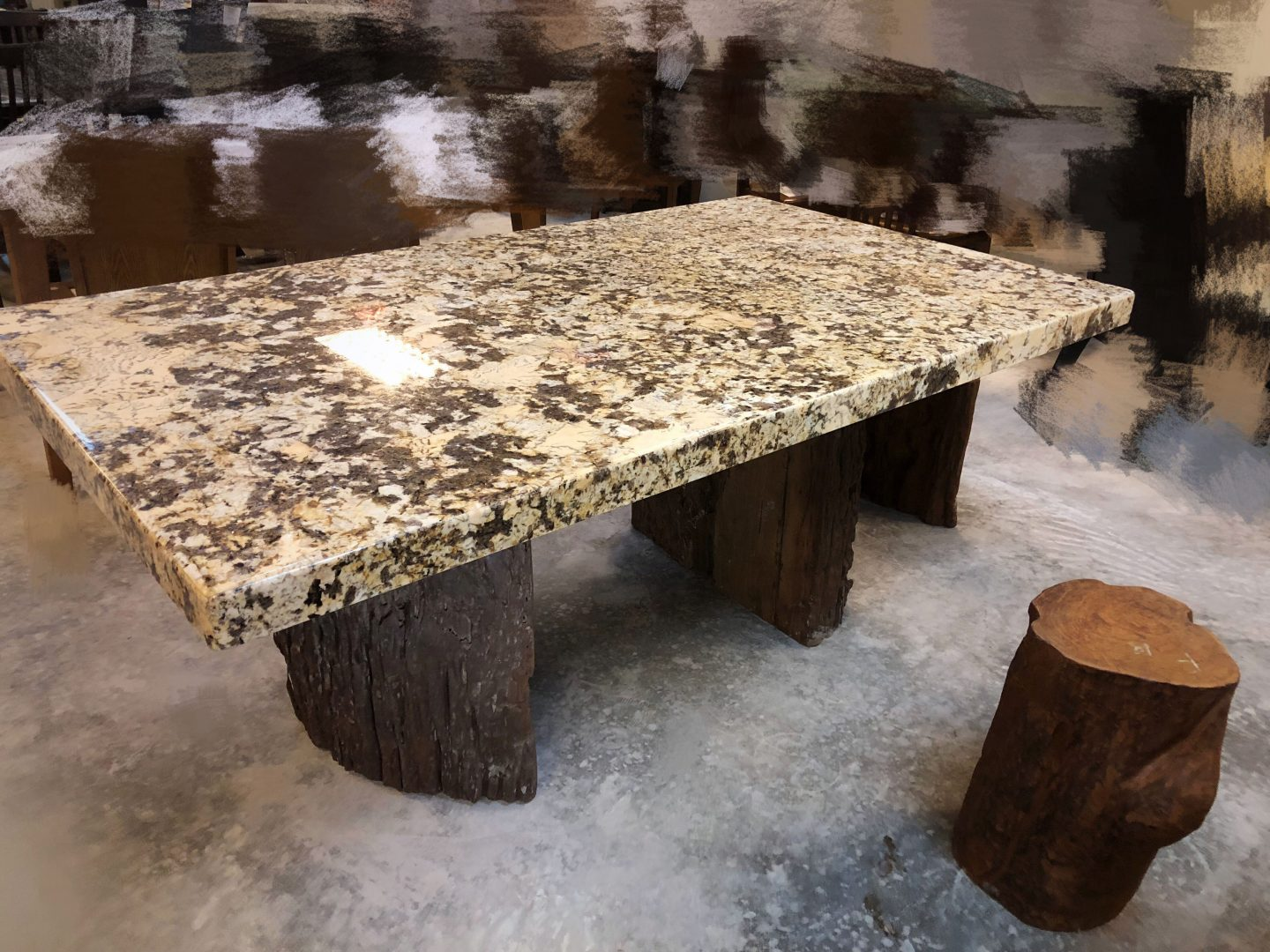 Marble Table, Marble Chair