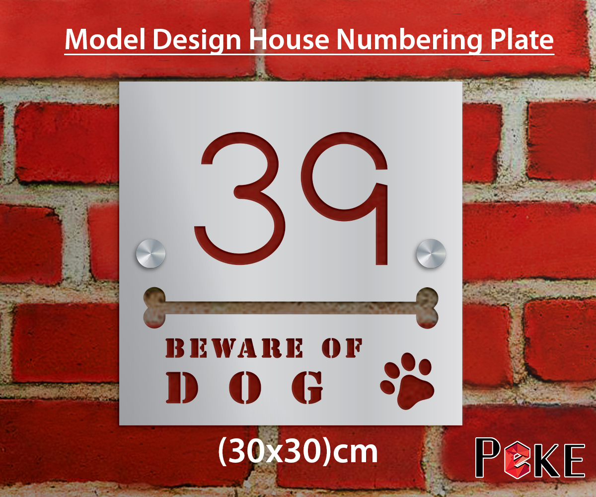 House Number Plate Peke Wospace Home Living Magazine